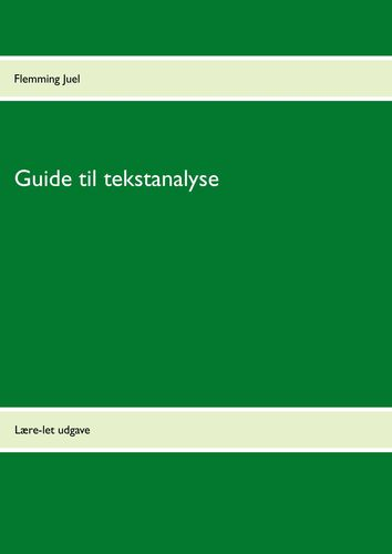 Guide til tekstanalyse