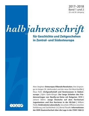 Halbjahresschrift 2017 - 2018