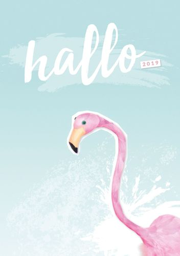 Hallo 2019 - der #nurwasichmag Planer mit Flamingo Cover