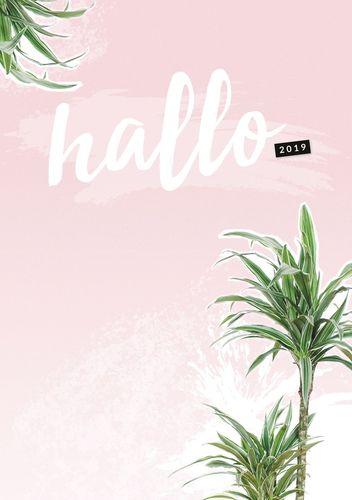 Hallo 2019 - der #nurwasichmag Planer mit Palmen Cover