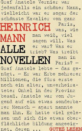 Heinrich Mann - Alle Novellen