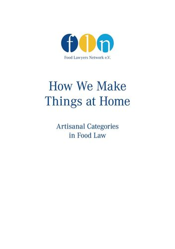 How we make things at home