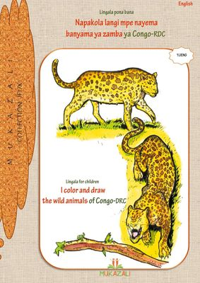I color and draw the wild animals of congo drc in lingala