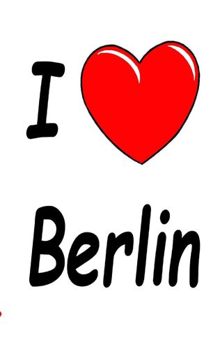 I Love Berlin - Notebook/Notizbuch