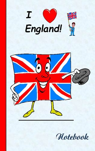 I Love England - Notebook / Notizbuch