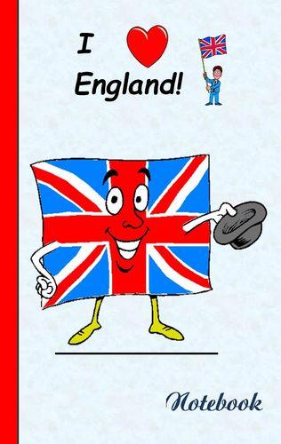 I Love England - Notebook / Notizbuch