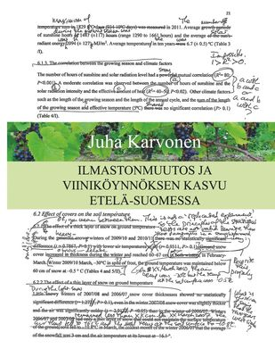 Ilmastonmuutos ja viiniköynnöksen kasvu Etelä-Suomessa