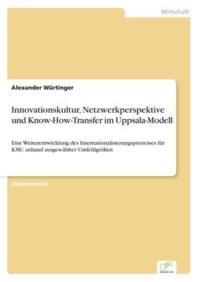 Innovationskultur, Netzwerkperspektive und Know-How-Transfer im Uppsala-Modell