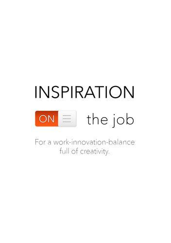 Inspiration on the job