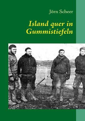 Island quer in Gummistiefeln