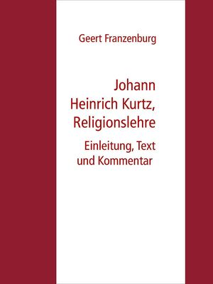 Johann Heinrich Kurtz, Religionslehre