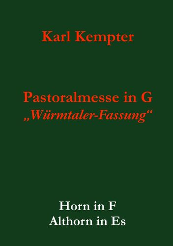 Kempter: Pastoralmesse in G.Horn.Althorn