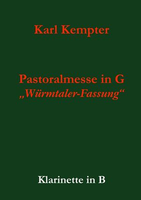 Kempter: Pastoralmesse in G. Klarinette