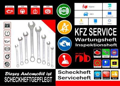 KFZ AUTOMOBIL SERVICEHEFT Scheckheft Inspektionsheft Wartungsheft Service Leistungen