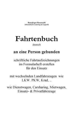 KFZ Fahrtenbuch & Fahrtaufzeichnung Carsharing/Mietwagen