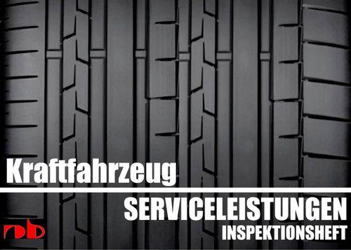 KFZ Serviceheft Scheckheft Inspektionsheft Wartungsheft - Car inspection booklet