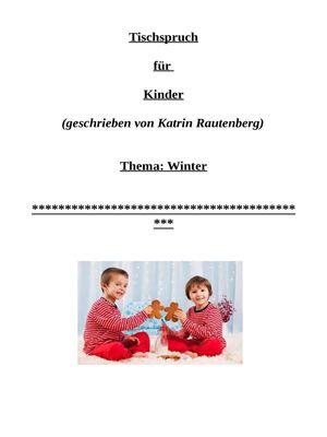 Kinder-Tischspruch