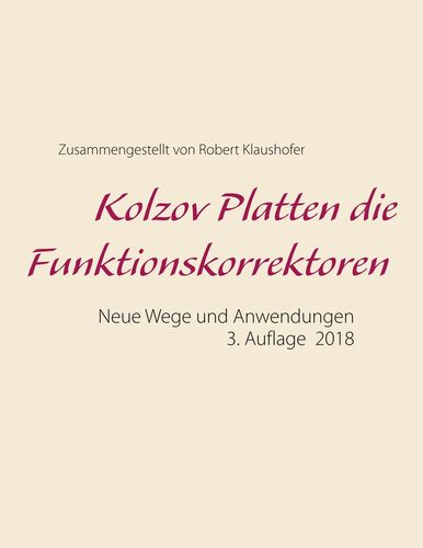 Kolzov Platten die Funktionskorrektoren