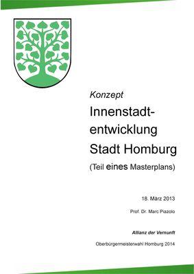 Konzept Innenstadtentwicklung Stadt Homburg