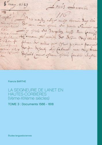 La Seigneurie de Lanet en Hautes-Corbières (Vème-XIXème siècles)