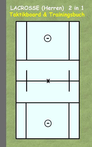 Lacrosse (Herren) 2 in 1 Taktikboard und Trainingsbuch