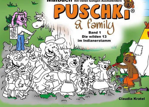 Malbuch zu  PUSCHKI & family