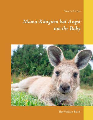 Mama-Känguru hat Angst um ihr Baby