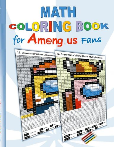 Math Coloring Book for Am@ng.us Fans