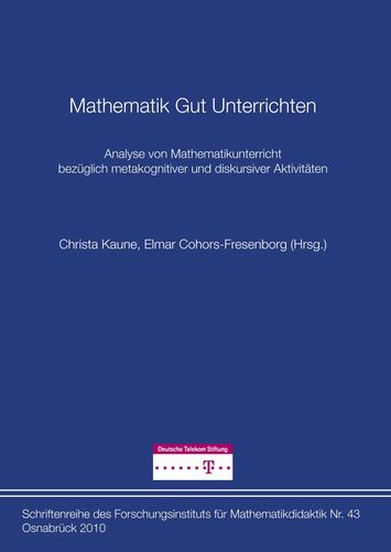 Mathematik Gut Unterrichten