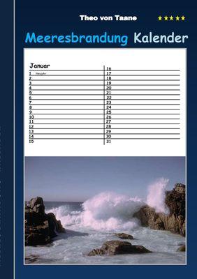 Meeresbrandung - Kalender