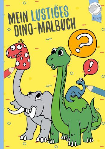 Mein lustiges Dino - Malbuch