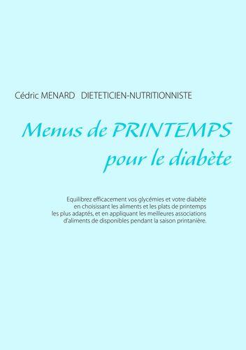 Menus de printemps pour le diabète