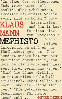 Mephisto - Roman einer Karriere