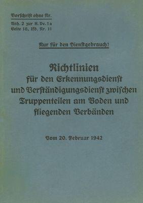 Merkblatt 18/11 - Richtlinien für den Erkennungsdienst und Verständigungsdienst zwischen Truppenteilen am Boden und fliegenden Verbänden