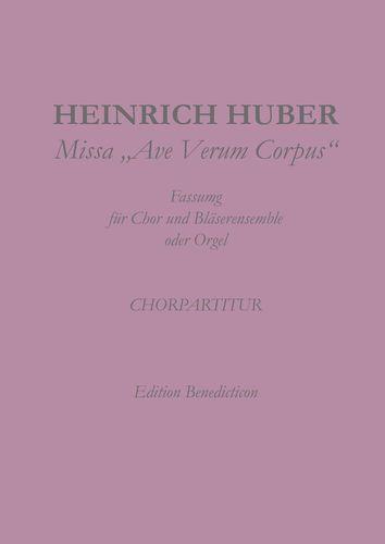 Missa Ave Verum Corpus. Chorpartitur