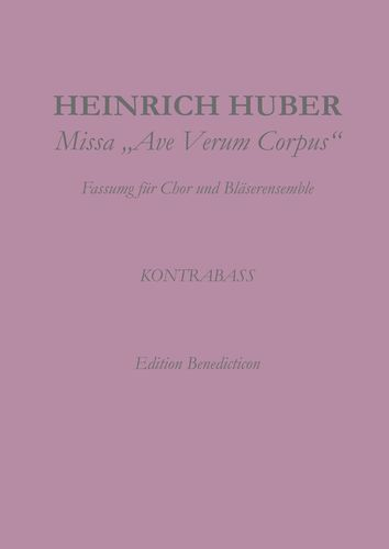 Missa Ave Verum Corpus. Kontrabass