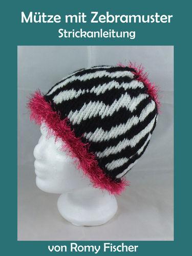 Mütze mit Zebramuster