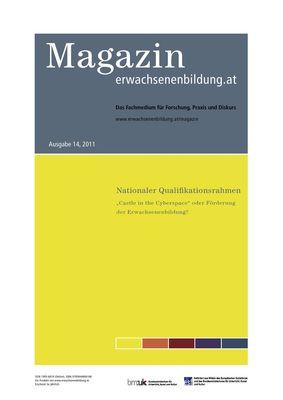 Nationaler Qualifikationsrahmen. Magazin erwachsenenbildung.at 14, 2011