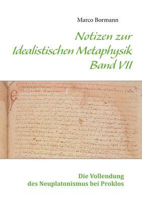Notizen zur Idealistischen Metaphysik VII