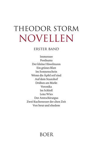 Novellen erster Band