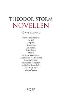 Novellen fünfter Band