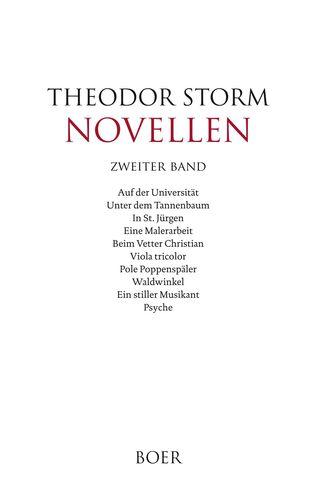Novellen zweiter Band