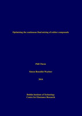 Optimising the continuous final mixing of rubber compounds