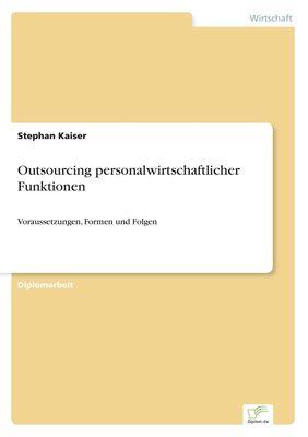 Outsourcing personalwirtschaftlicher Funktionen