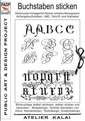 PADP-Script 001: Buchstaben sticken