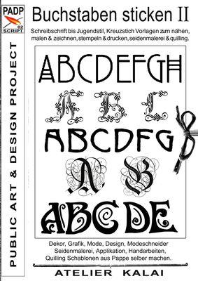 PADP-Script 002: Buchstaben sticken II