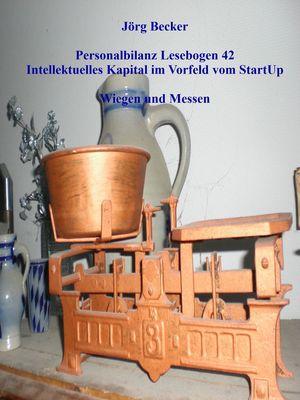 Personalbilanz Lesebogen 42 Intellektuelles Kapital im Vorfeld vom StartUp
