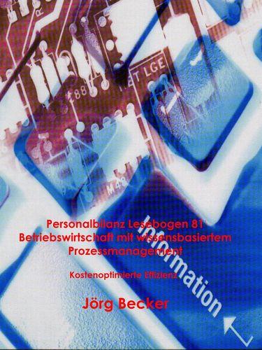 Personalbilanz Lesebogen 81 Betriebswirtschaft mit wissensbasiertem Prozessmanagement