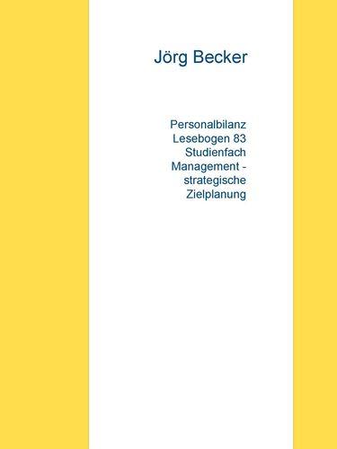Personalbilanz Lesebogen 83 Studienfach Management - strategische Zielplanung
