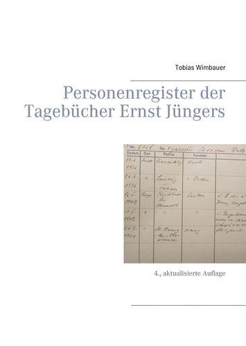 Personenregister der Tagebücher Ernst Jüngers. Großausgabe mit Schreibrand